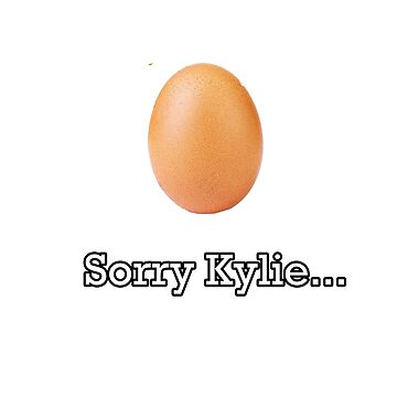 Sorry Kylie Egg shirt by FabloFreshcoBar