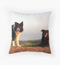 Indy and Shela. Throw Pillow