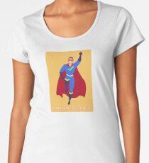 Captain Pedantic - orange background  Women's Premium T-Shirt