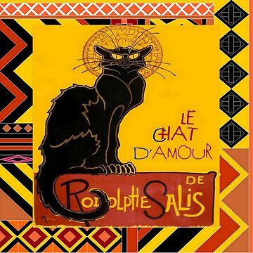 Le Chat Noir D'Amour With Ethnic Border by taiche