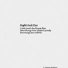 Night And Day by James Watson