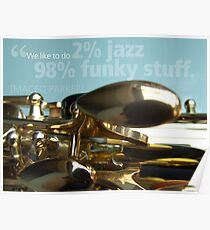 2% Jazz -  98% Funky Poster