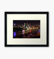 Brisbane Skyline Framed Print
