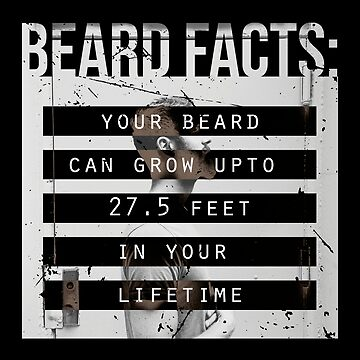 Men, Hair, and Beard Facts (b) by BlueRockDesigns