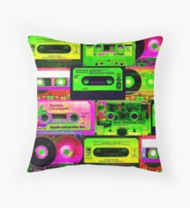Cassette Tapes Throw Pillow