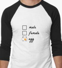 Male, female, egg! The egg became famous in 2019. Politically correct, gender-neutral design Men's Baseball ¾ T-Shirt