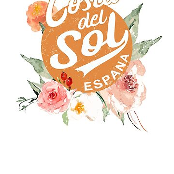 Spain Costa Del Sol Floral Vintage Travel by IronEcho