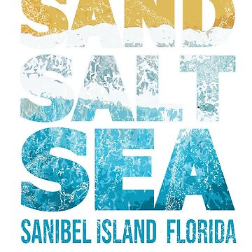 Sanibel Island Beach Florida SAND SALT SEA Beach Feels by IronEcho
