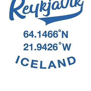 ICELAND Reykjavic Icelandic Travel Coordinates  by IronEcho