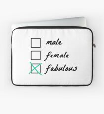 Gender neutral and great! Unisex shirt Laptop Sleeve