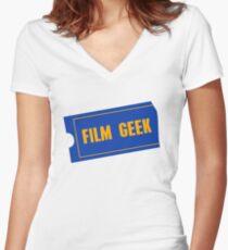 Film Geek Women's Fitted V-Neck T-Shirt