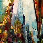 Chrysler building,New york Skyline by Samuel Durkin