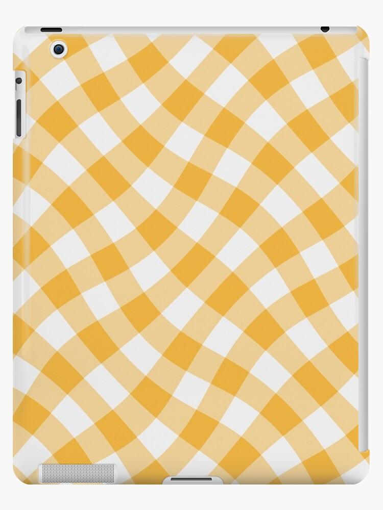 Wibbly wobbly yellow gingham by stuwdamdorp