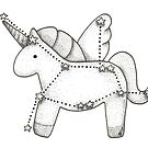 Unicorn zodiac by DoughtycreARTiv