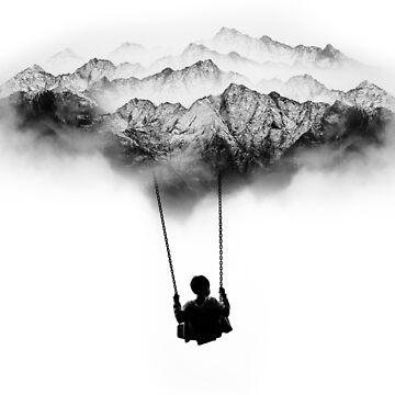 Black and White Mountain Swing by stohitro