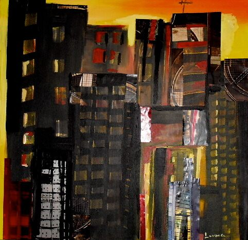 a hot night by Louma Rabah