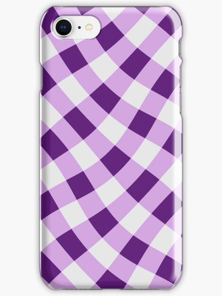 Wibbly wobbly lilac gingham by stuwdamdorp