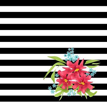 Seamless floral flowers modern brush pattern background by fuzzyfox