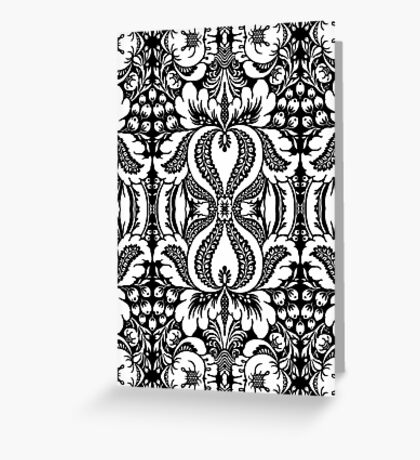 Tapestry - White  Greeting Card