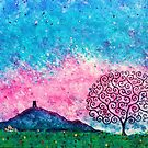Glastonbury Tor & Tree of Life Autumn Sunrise by MarkBetsonArt