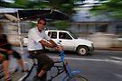 Cycle taxi motion blur, Havana, Cuba by David Carton
