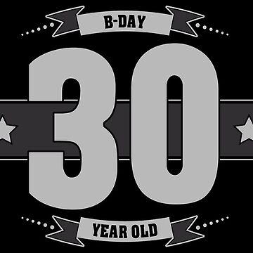B-day 30 (Light&Darkgrey) by ipiapacs