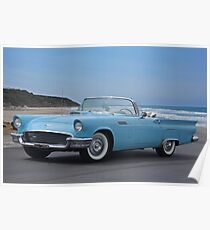 1957 Ford Thunderbird 'Blaues Baby' Poster