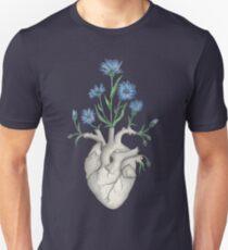 Floral Heart: Human Anatomy Cornflower Mothers Day Gift Unisex T-Shirt