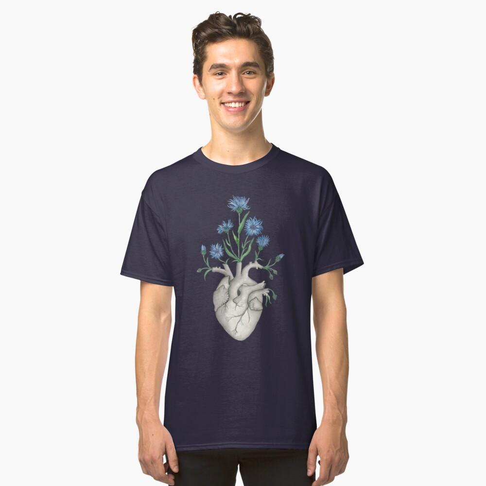 Floral Heart: Human Anatomy Cornflower Flower Halloween Gift Classic T-Shirt