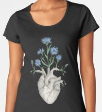 Floral Heart: Human Anatomy Cornflower Mothers Day Gift Women's Premium T-Shirt