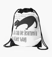 The Well-Read cat -1 Drawstring Bag