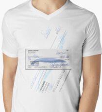 Lebowski's check Men's V-Neck T-Shirt