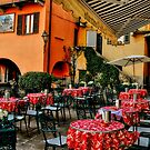 Italian Cafe in Lake Como by Julie Teague