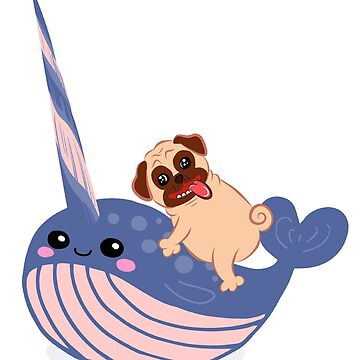 Narwhal and Pug by andreirose