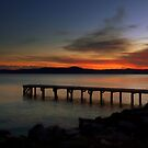 The pier at sunset by annalisa bianchetti