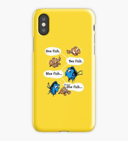 One Fish, Blue Fish iPhone Case