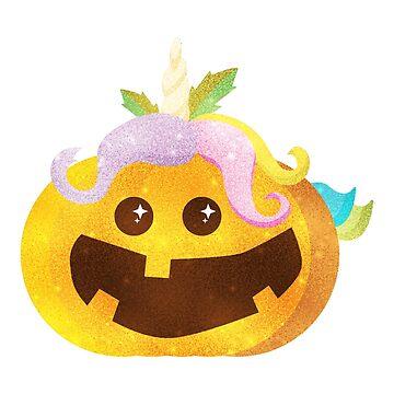 Unicorn Pumpkin Halloween For Girls Kids Womens by macshoptee