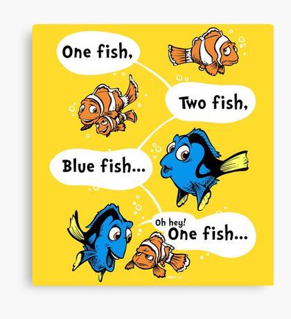 One Fish, Blue Fish Canvas Print