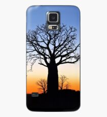 Boab Silhouettes (Panorama) Case/Skin for Samsung Galaxy