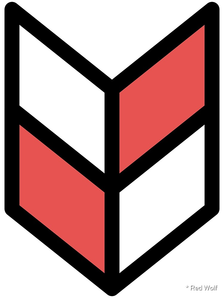 Geometric Pattern: Chevron: White/Red by * Red Wolf