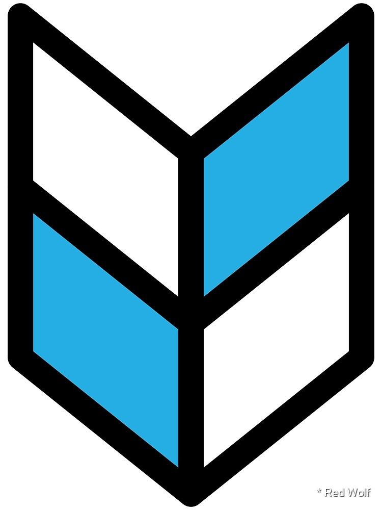 Geometric Pattern: Chevron: White/Blue by * Red Wolf