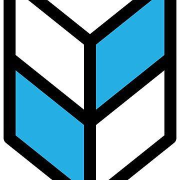 Geometric Pattern: Chevron: White/Blue by redwolfoz