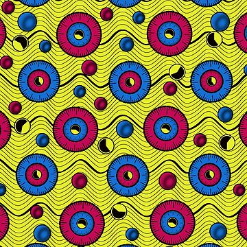 African funky wax print by hellcom