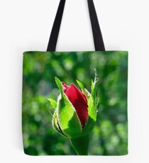 First Day Of My Small Red Rose Tote Bag