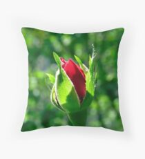 First Day Of My Small Red Rose Throw Pillow
