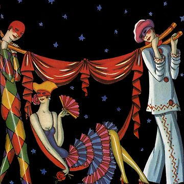 Art Deco Harlequins by Pixelchicken