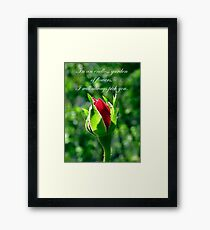 In An Endless Garden Of Flowers I Will Always Pick You Framed Print