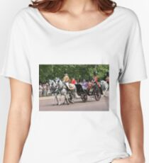 Her Majesty The Queen in a horse drawn carriage Women's Relaxed Fit T-Shirt