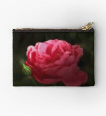 Soft Red Rose In The Evening Light Studio Pouch