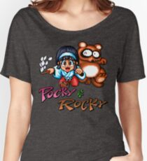 Pocky & Rocky - SNES Title Screen Women's Relaxed Fit T-Shirt